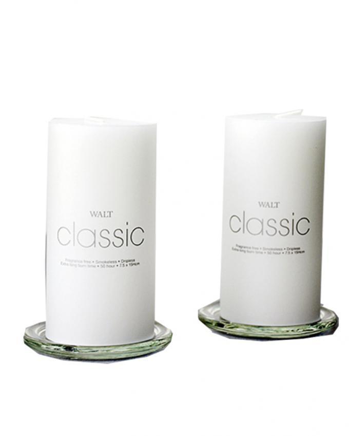 Walt Classic 2x5 Inch Pillar Candle - White