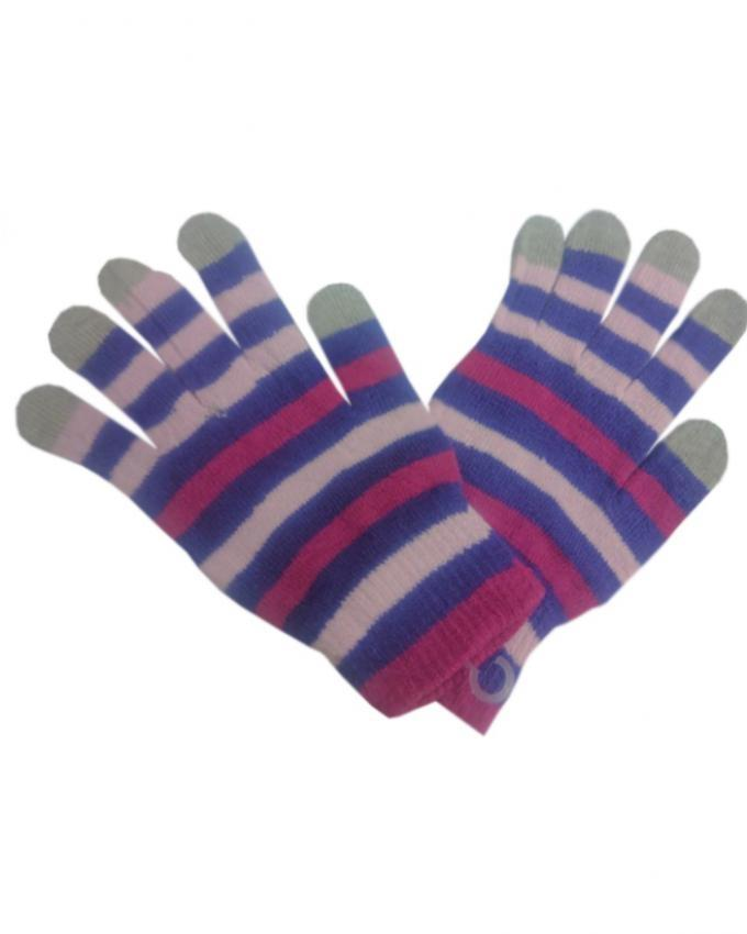 Purple & Pink Wool Gloves For Women- Smart Phone User