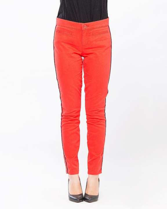 Red Cotton Trouser for Women