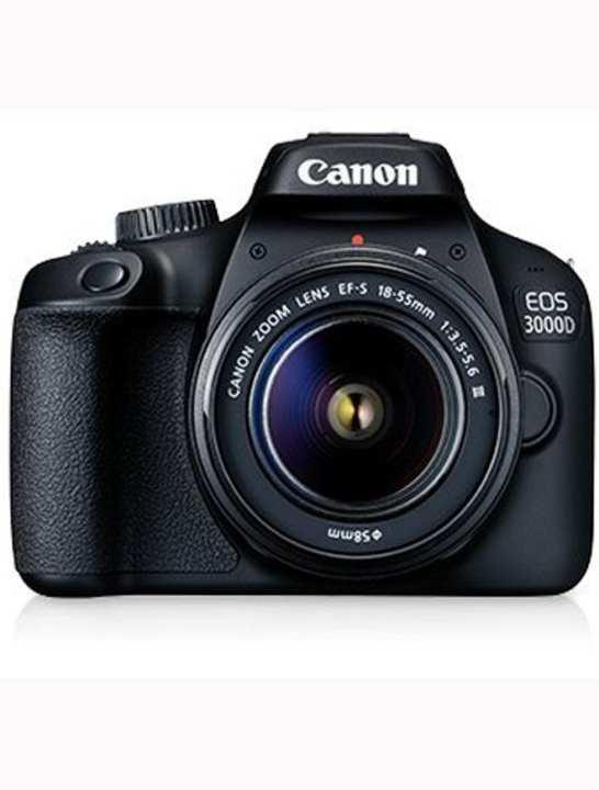 Eos 3000D Dslr Camera With Ef-S 18-55Mm F/3.5-5.6 Is Ii Lens- Black