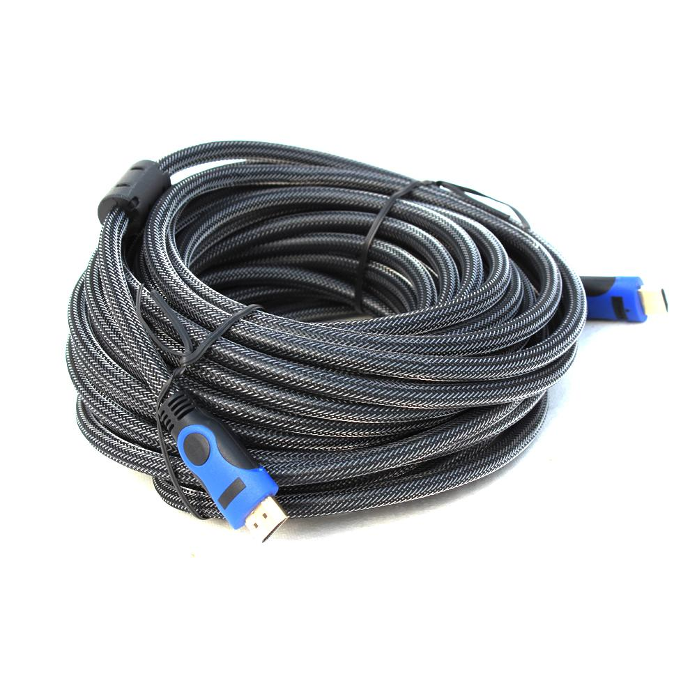 HDMI Round Cable - 25 Meter - Black And Blue