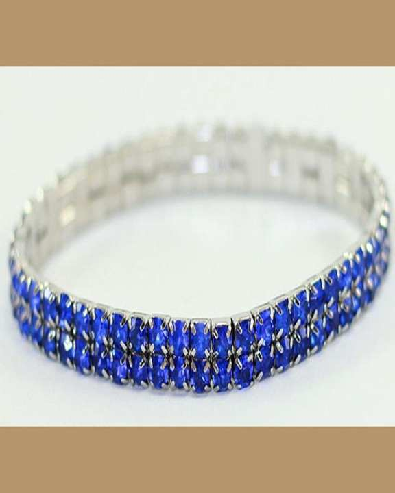 Silver Bracelet With Blue Stones