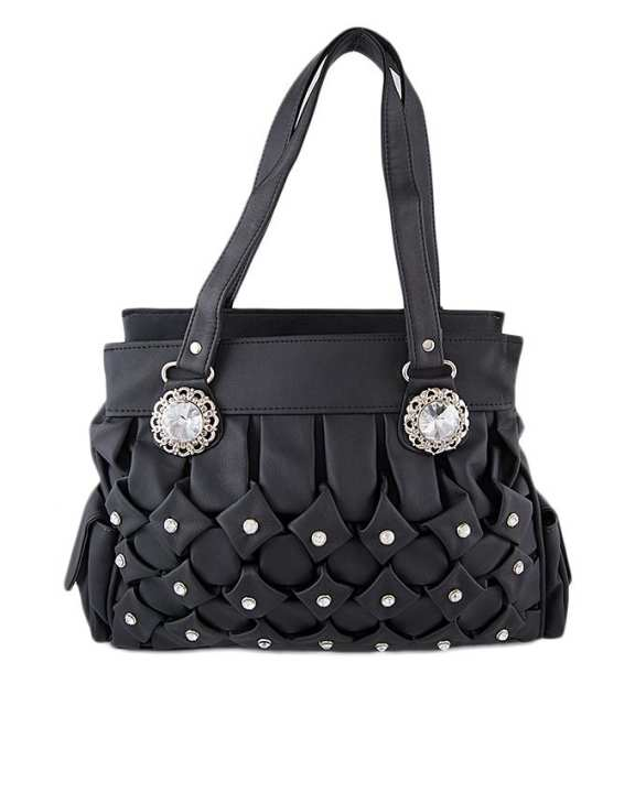 Black Leather Hand Bag For Women