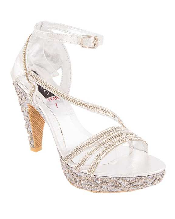 Gold & Silver Synthetic Leather Shoes for Women