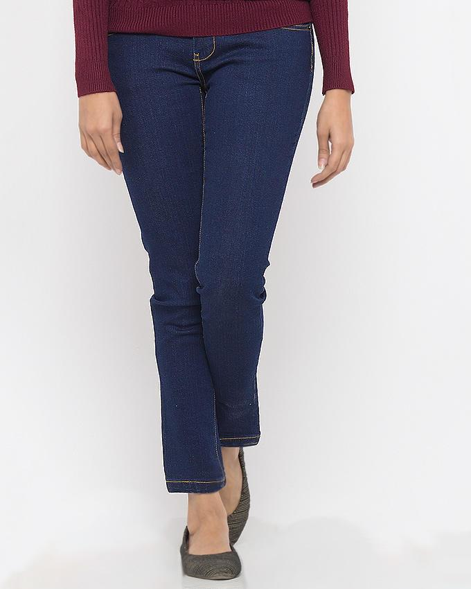 1442c7e7cc Ladies Denim Blue Cotton Pant