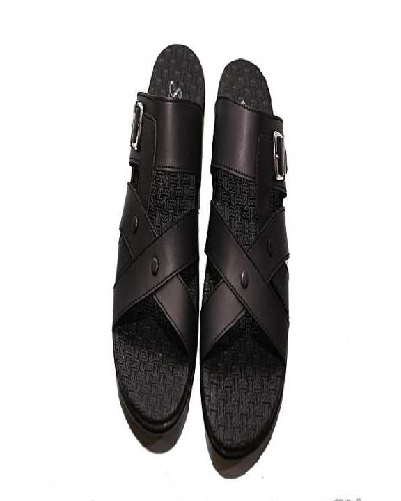 Black Rubber Slipper For Men