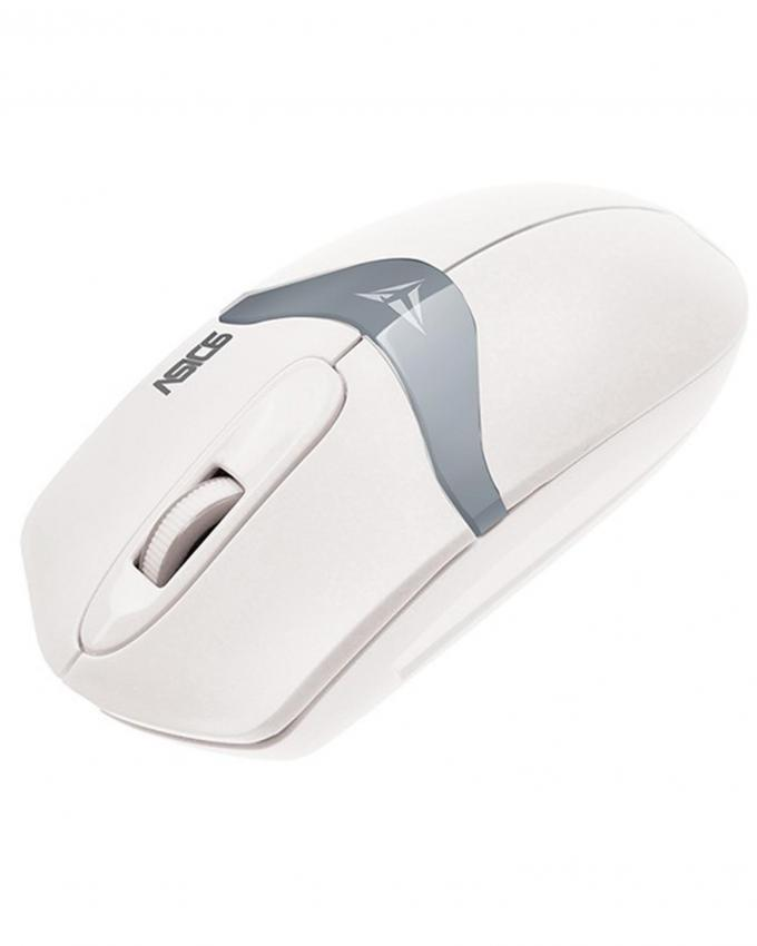 Asic 6 USB Wired Mouse - White and Grey