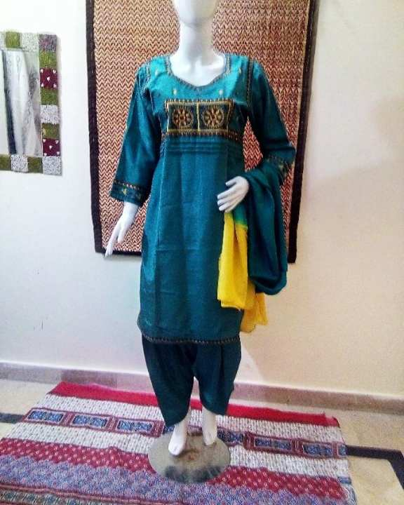 Pine Green Embroidery Formal Stitched (3Pcs) Suit for Women