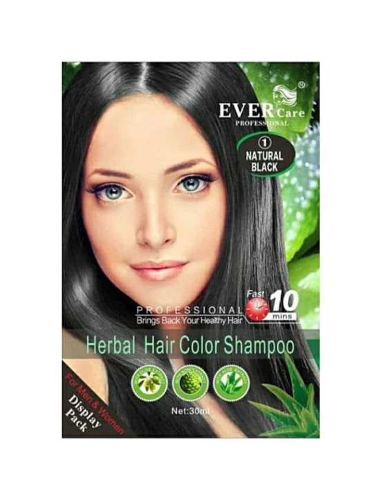 Professional Herbal Hair Color with Shampoo  Natural Black