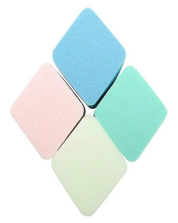 Pack of 4 - Makeup Puffs - Multicolor