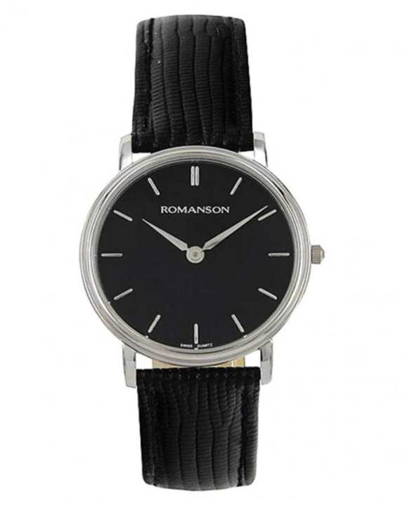 Romanson TL0161 MW BK - Wrist Watch for Men - Black (Brand Warranty)