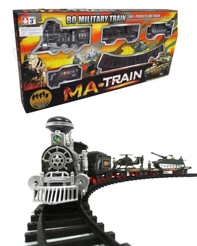 Military Train Track Set - Multicolour