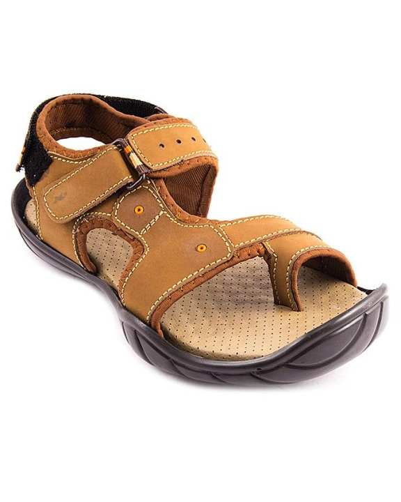 Mustard Synthetic Leather Casual Sandal for Men - 864/9s