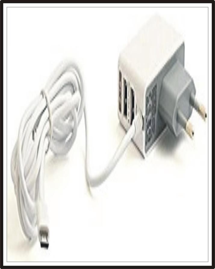 Fast Mobile Charger with extra 2 USB Charging Ports for Simultaneously Charging 3 mobiles