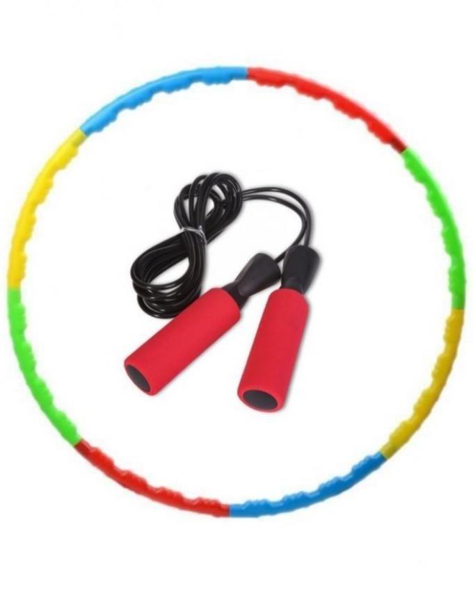 Pack of 2 - Jump Rope & Hula Hoop - Multicolor