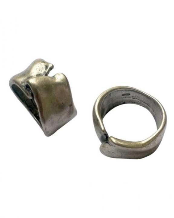 silver antique finish knot style ring for men buy sell