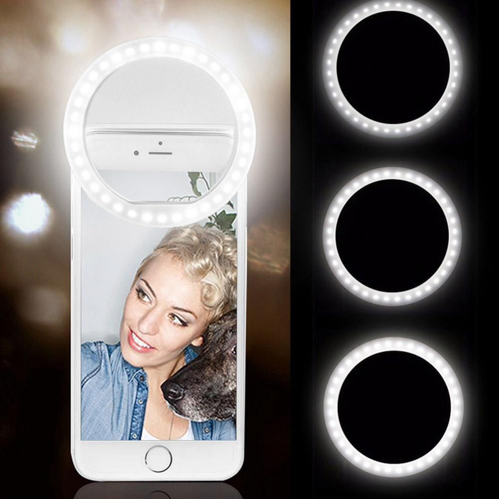 Selfie Ring Light for Camera 36 LED Light for iPhone iPad Tablet Laptop  Camera Sumsung Galaxy Photography Phones, Rechargable Batter