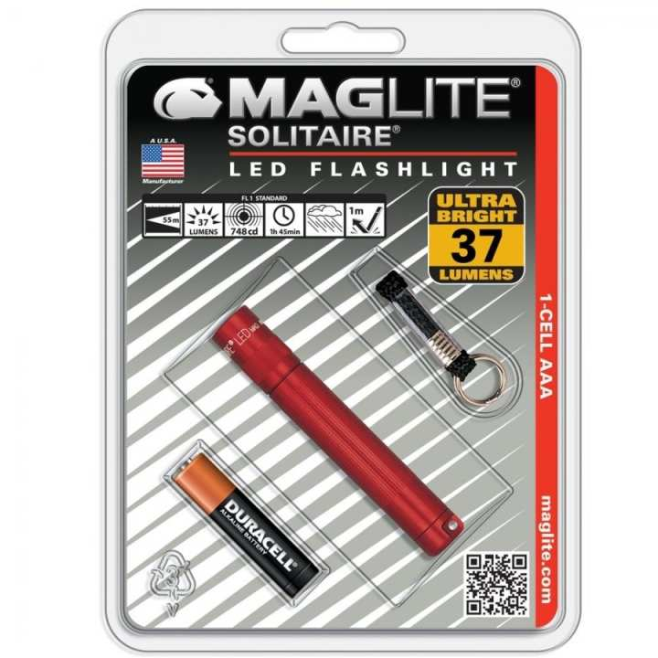 MAGLITE SOLITAIRE 1-CELL AAA LED - RED