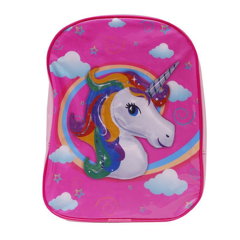 47eca2c3d7 Unicorn Backpack Girls School Bag 3D Magical Rainbow Travel Mochila  Unicornio