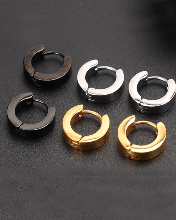 Pack Of 3 Round Pair Of Earrings Unisex