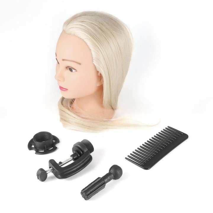 26 inch Light Golden Long Hair Dolls Heads Training Mannequin Makeup Practice Light Golden 26 inch