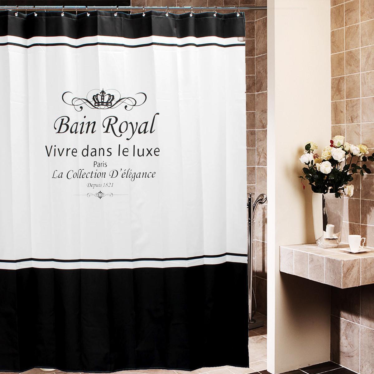 1 X Shower Curtain 12x Hooks