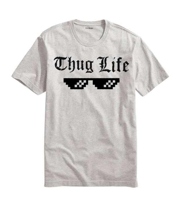 Men'S Thug Life Printed Half Sleeves T-Shirt. Tlf-21
