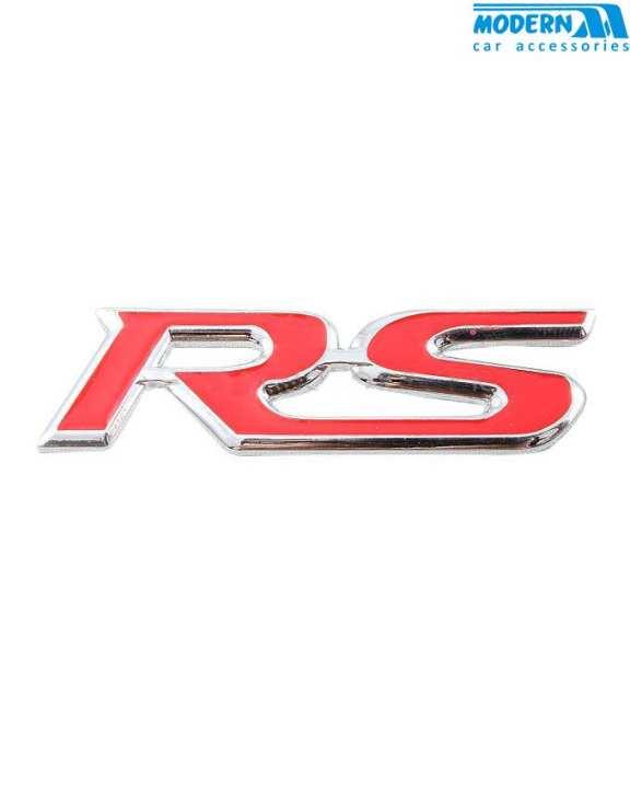 RS Metal Logo Red - Each