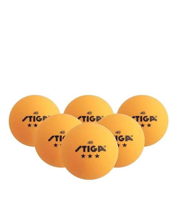 Double Fish Pack of 3 - Orange Plastic Table Tennis Balls