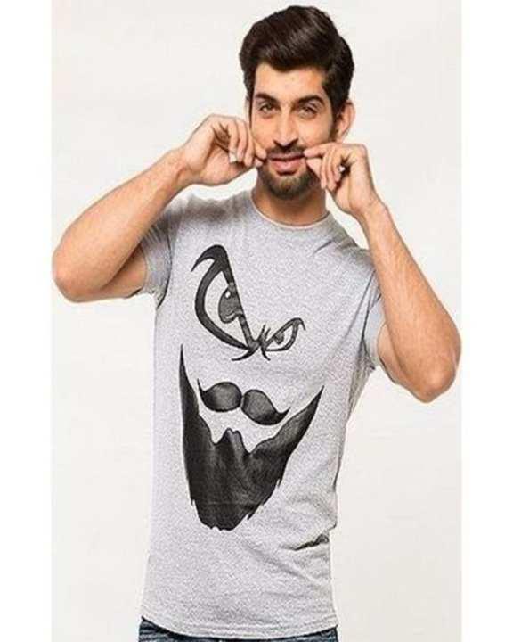 Hazel Grey Beard Man Printed Rouned Neck Half Sleeves Tshirt