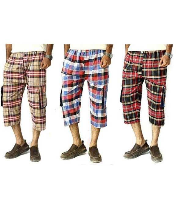 pack of 3 cargo shorts for men