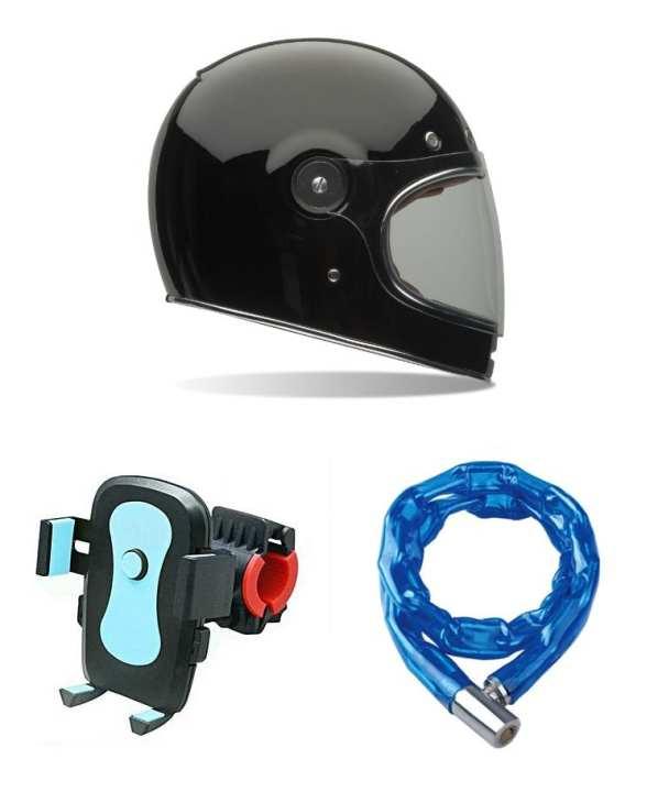 Bike Helmet, Mobile Holder and Chain Lock - Pack of 3
