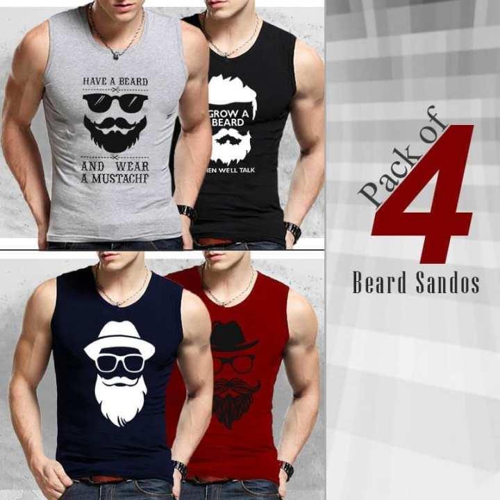 Pack of 4 Beard Sandos