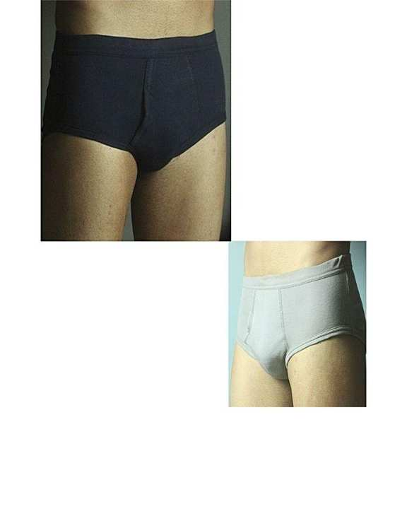 Pack of Blue and Grey Cotton Inner Brief for Men