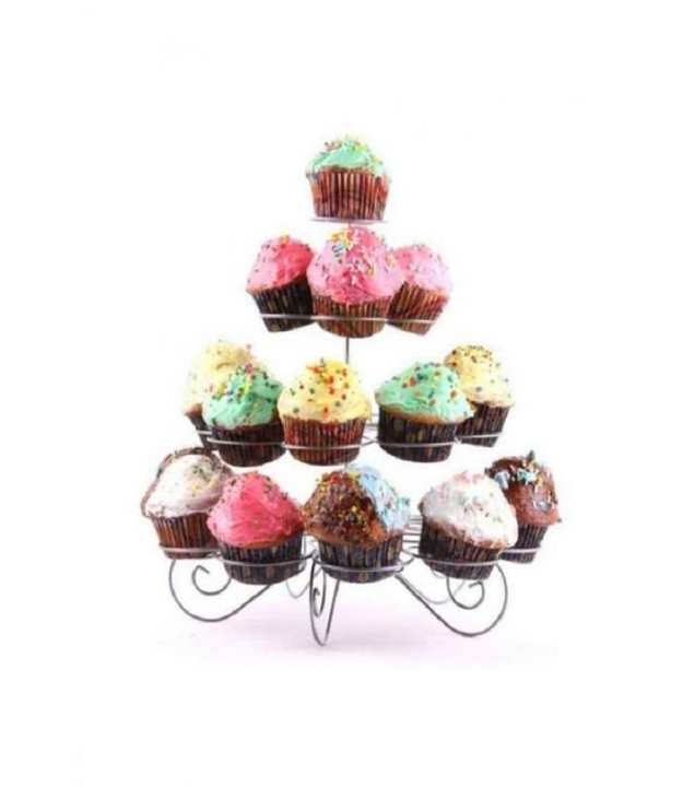 Cupcake Stand - Silver