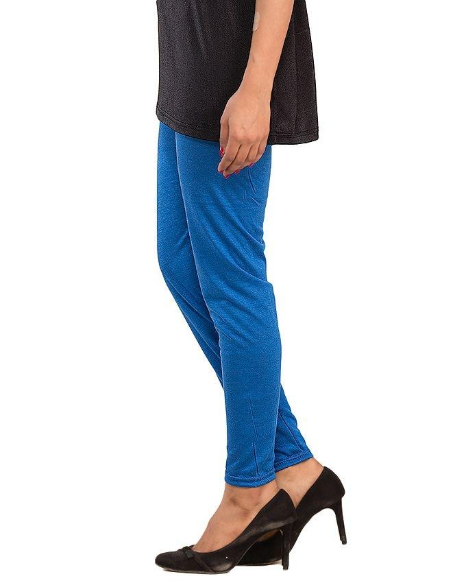Royal Blue Cotton Lycra Tights for Women