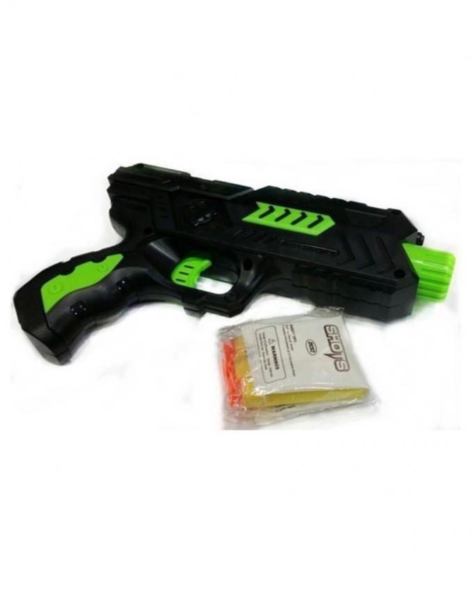 2 in 1 - Water & Dart Gun - Black & Green