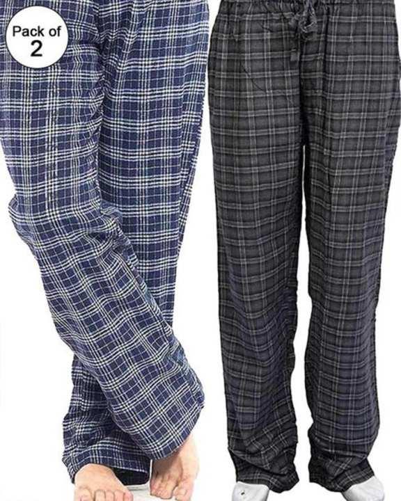 Pack Of 2 - Cotton Checkered Pajamas Unisex