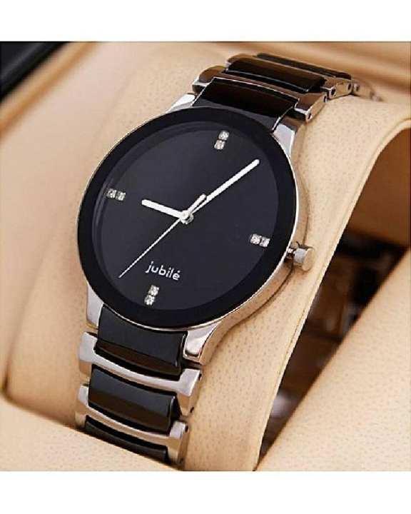 Black & Silver Stylish Watch For Men