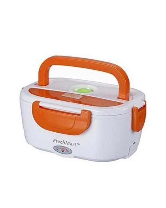 Electric Heating Lunch Box - White & Orange