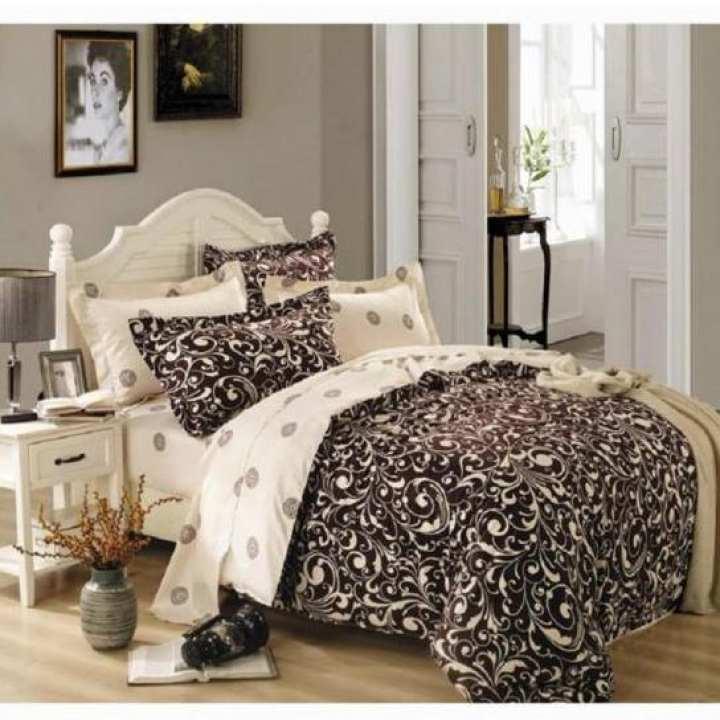 Printed Satin King Size Comforter Set
