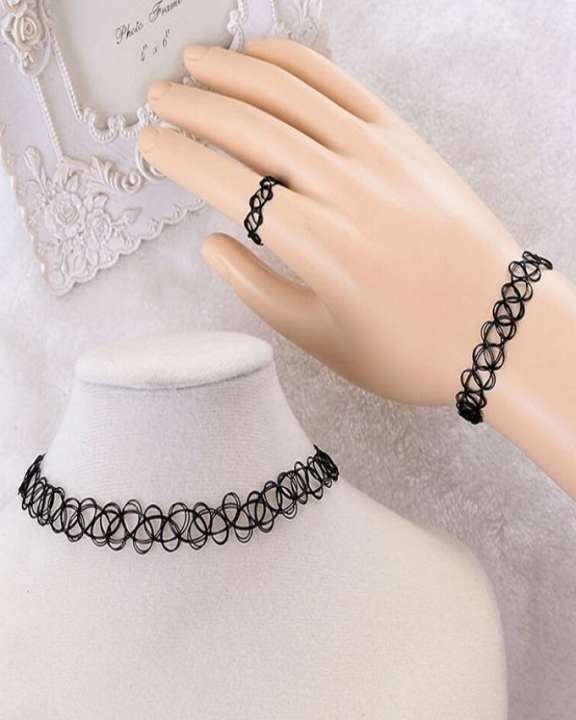 Black Choker Set for Women