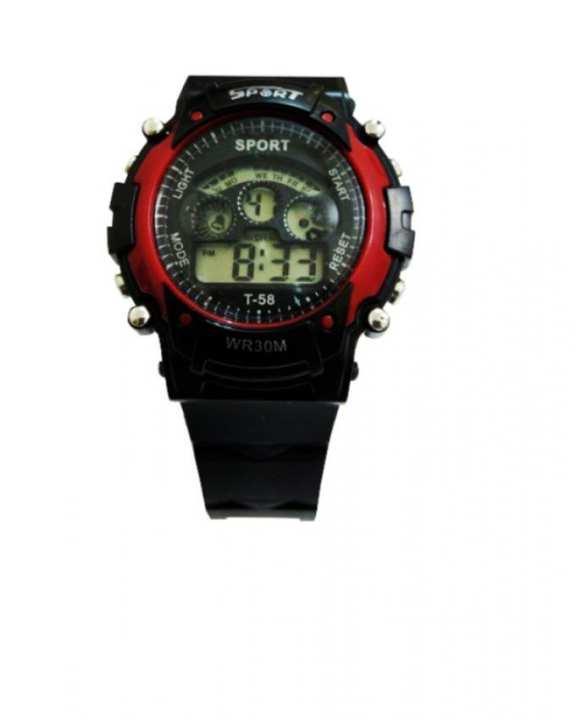 Digital Sports Watch - Black & Red