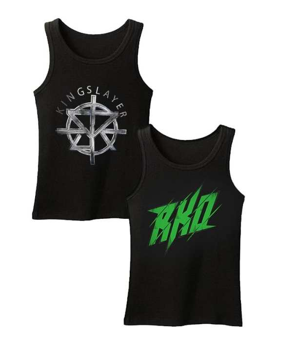 Pack of 2 - Black Cotton Printed Tank Top for Men
