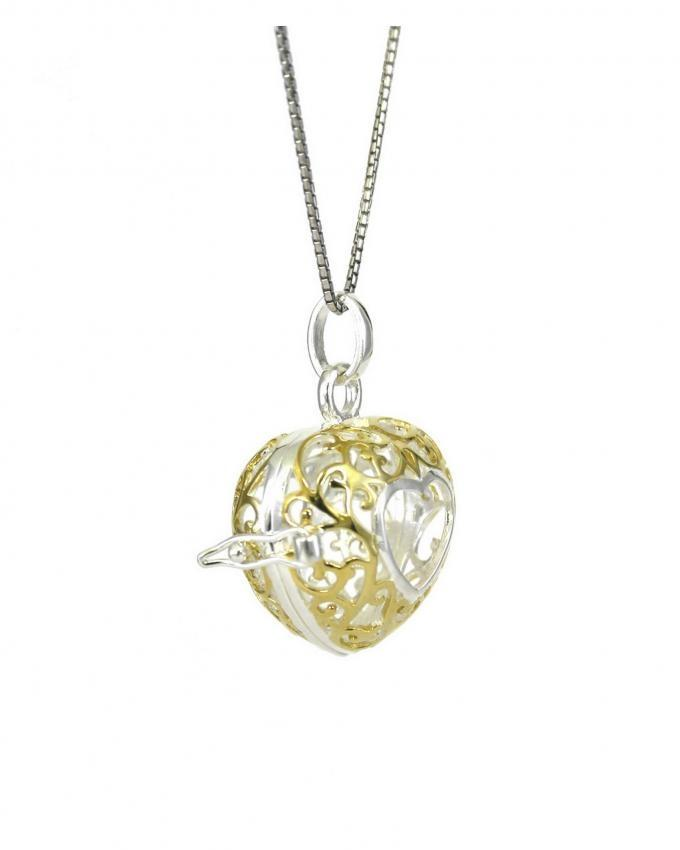 Sterling Silver Rhinestone Pendant With Chain