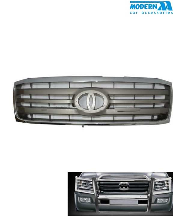 Toyota Land Cruiser FJ100 Front Grille Grey Chrome Thailand - Model 1998-2007