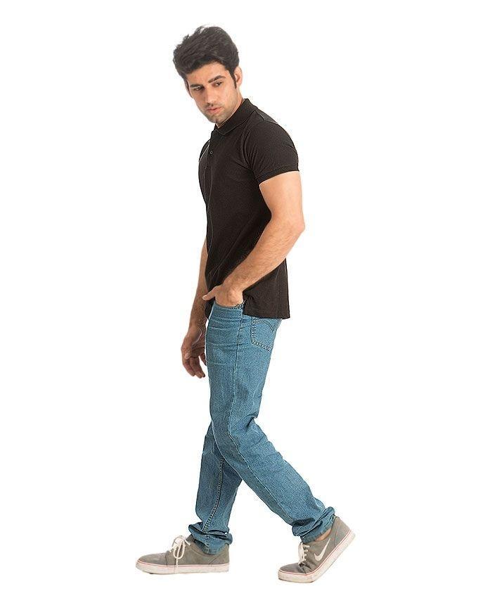 Black - Cotton - Polo Shirt For Men - EP_1388