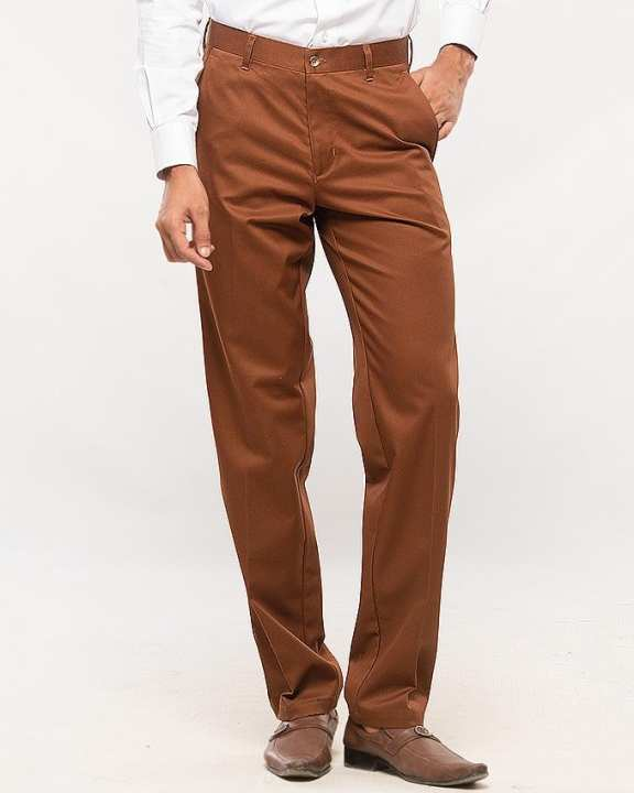 Copper Cotton Trouser for Men