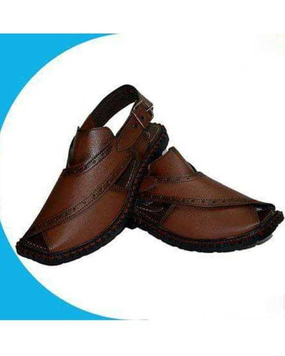 Mustard Peshawari Sandals - For Men - Brown