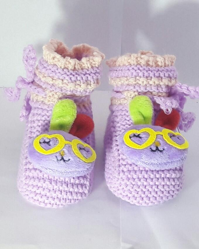 Wool Hand Made Booties For New Born Babies
